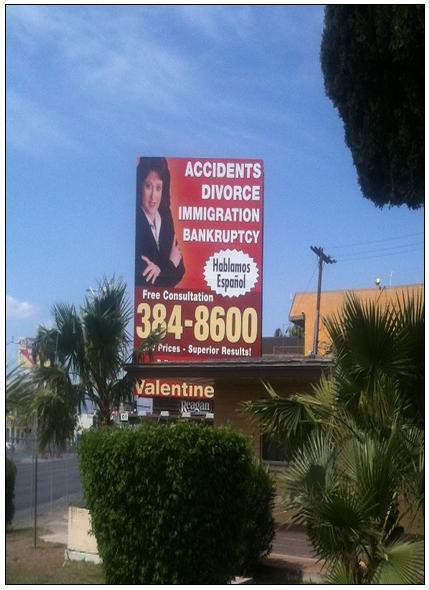 פרסום עורכי דין בשלטי חוצות