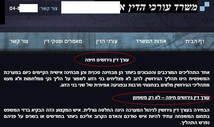 עורך דין גירושים חיפה - נשמע לכם?