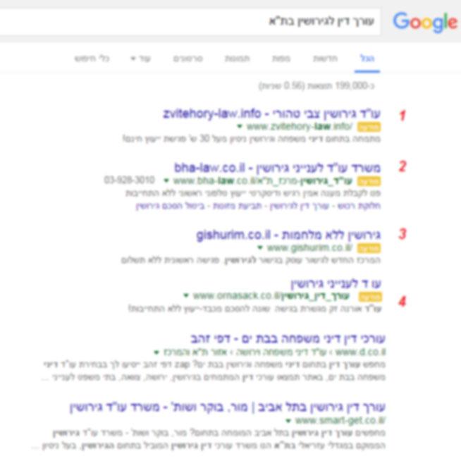 ארבע תוצאות ממומנות בראש תוצאות החיפוש